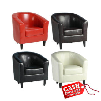 tempo leather tub chairs